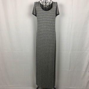 Calvin Klein striped maxi T-shirt dress 10